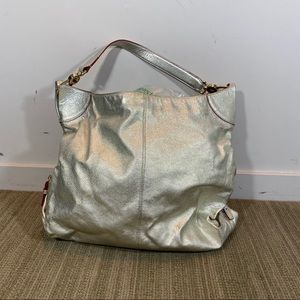 Dooney & Bourke Silver Leather Shoulder Bag